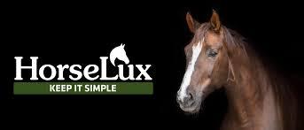 """Billedet indeholder sandsynligvis: tekst, der siger """"HorseLux HorseL KEEP IT SIMPLE"""""""